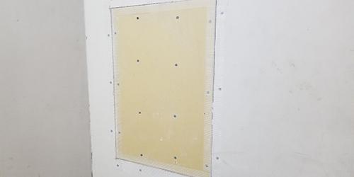 壁面ボード交換工事